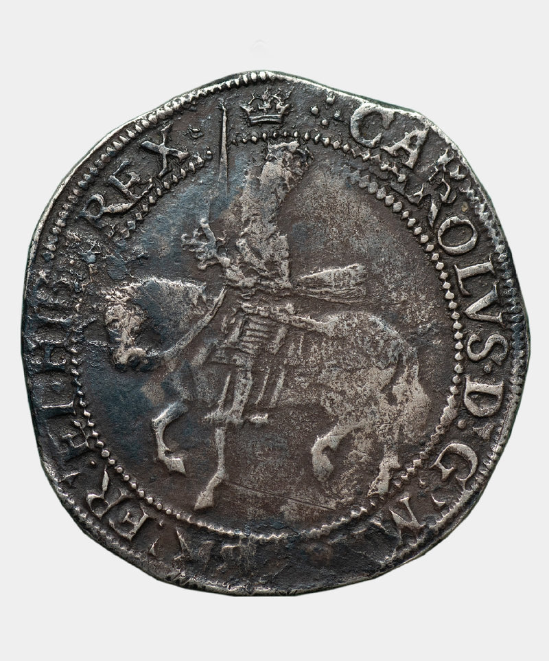 1635-6 Charles I, type 3b, mm Crown over Bell Halfcrown - Mhcoins