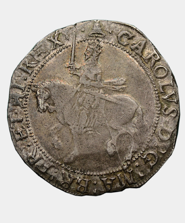 1634-5 Charles I, type 3a1 mm Bell Halfcrown
