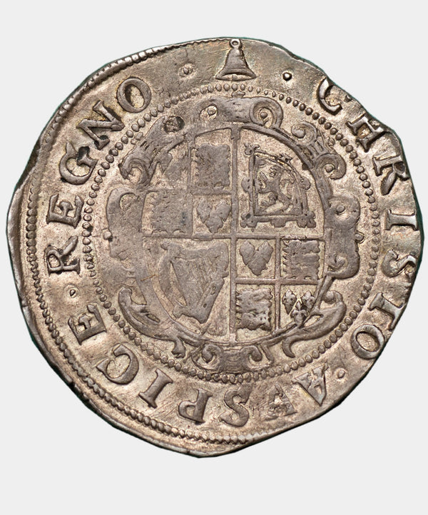 1634-5 Charles I, type 3a1 mm Bell Halfcrown - Mhcoins