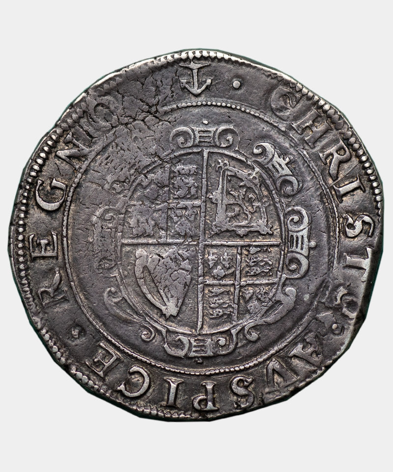 1638 Charles I type 3a2 mm Anchor Halfcrown - Mhcoins