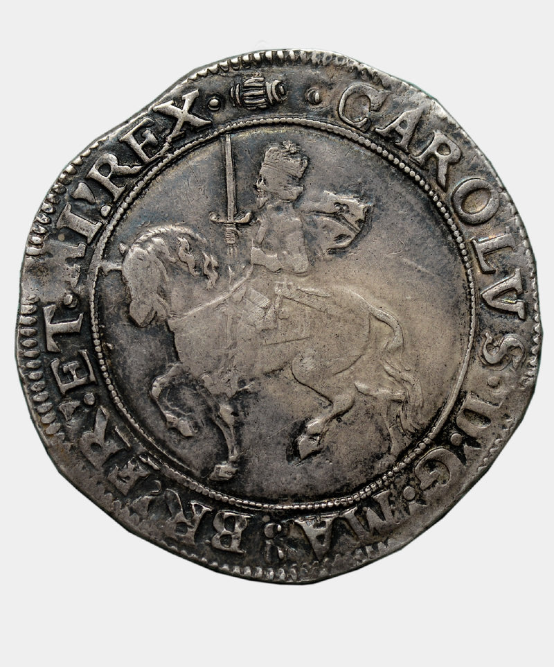 1636-8 Charles I, type 3a2 mm Tun Halfcrown.