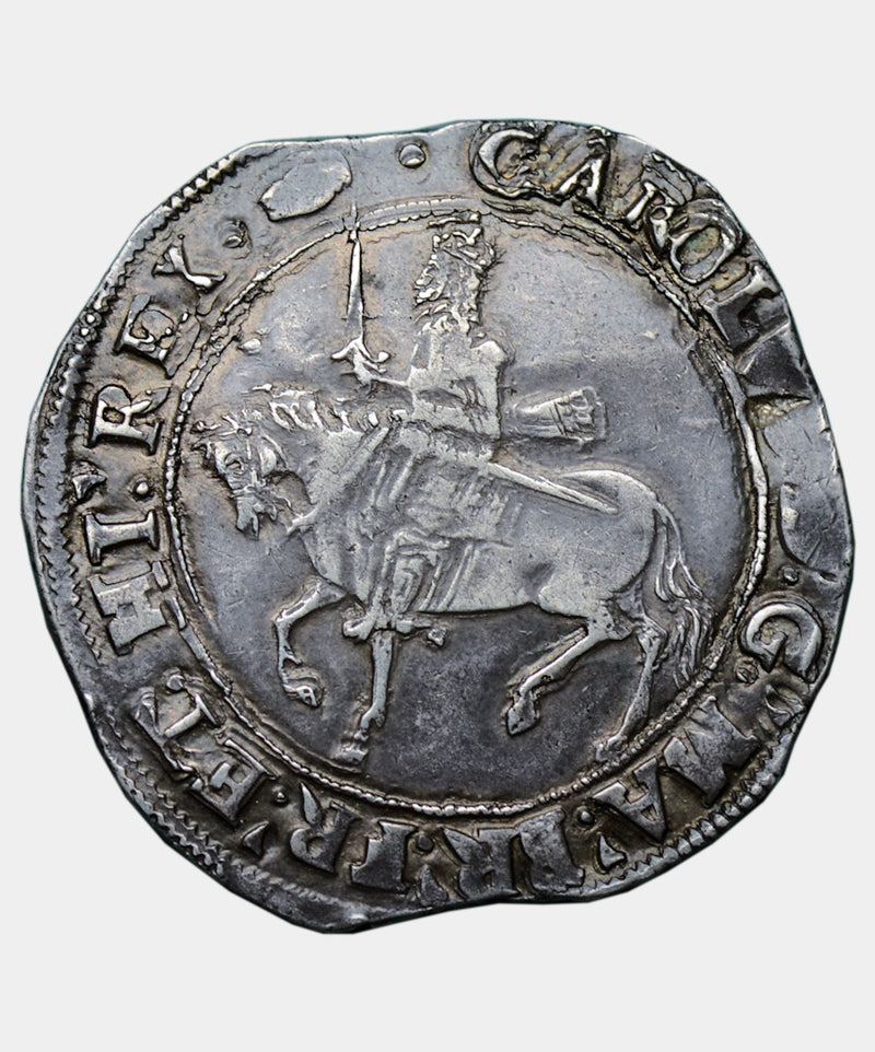 1636-8 Charles I, type 3a1 mmTun over Crown Halfcrown