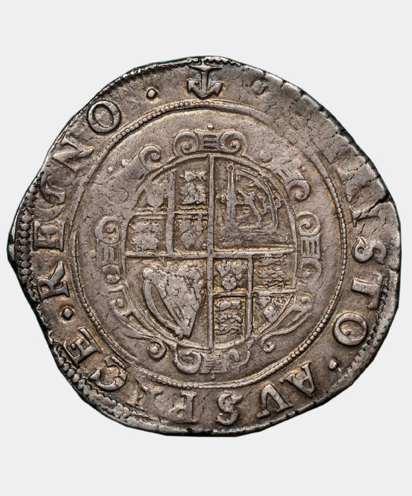 1638 Charles I type 3a2 mm Anchor Halfcrown