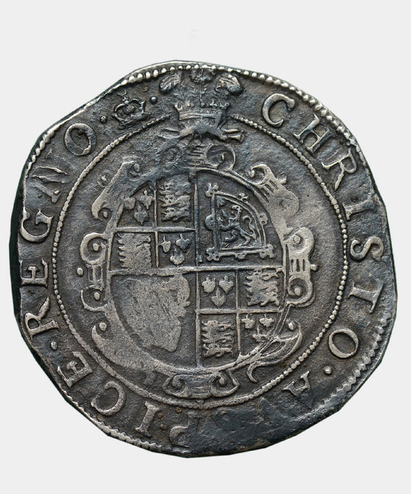 1635-6 Charles I, type 3b, mm Crown over Bell Halfcrown