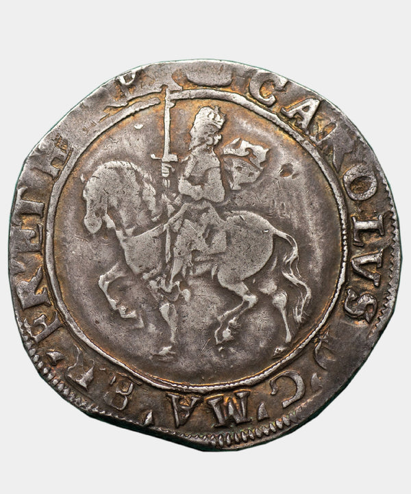 1635 Charles I type 3a2 mm Tun Halfcrown - Mhcoins