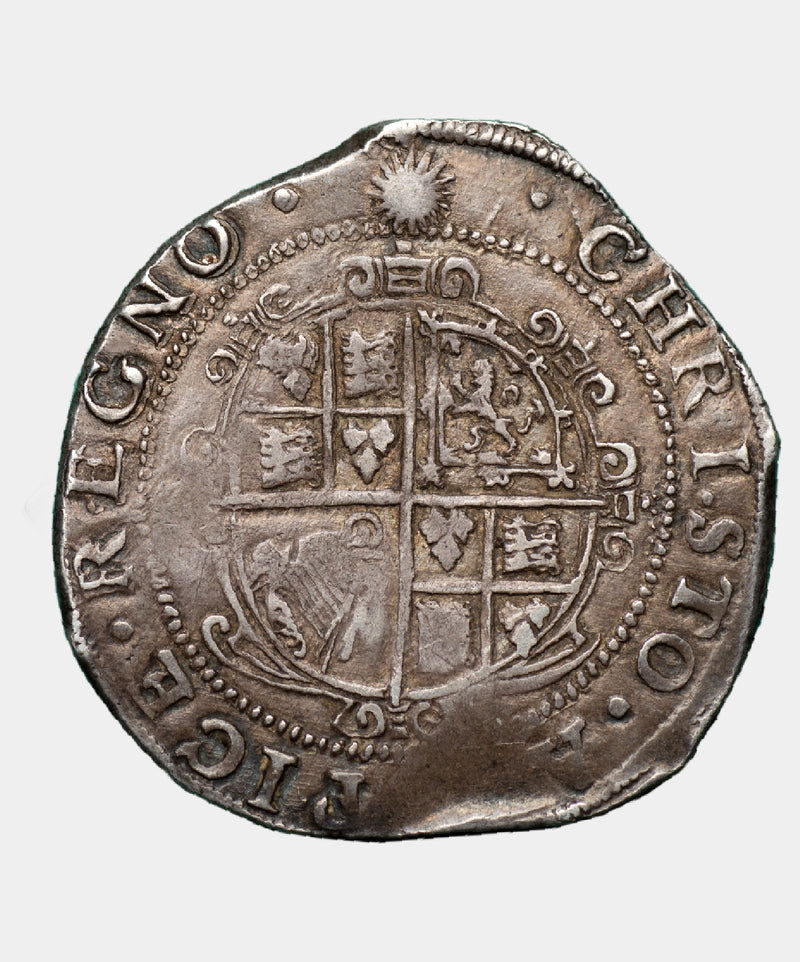 1645 Charles I type 3a3 mm Sun over Eye Halfcrown - Mhcoins