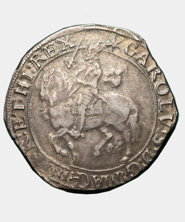 1639-40 Charles I, type 4, mm. Star over triangle Halfcrown
