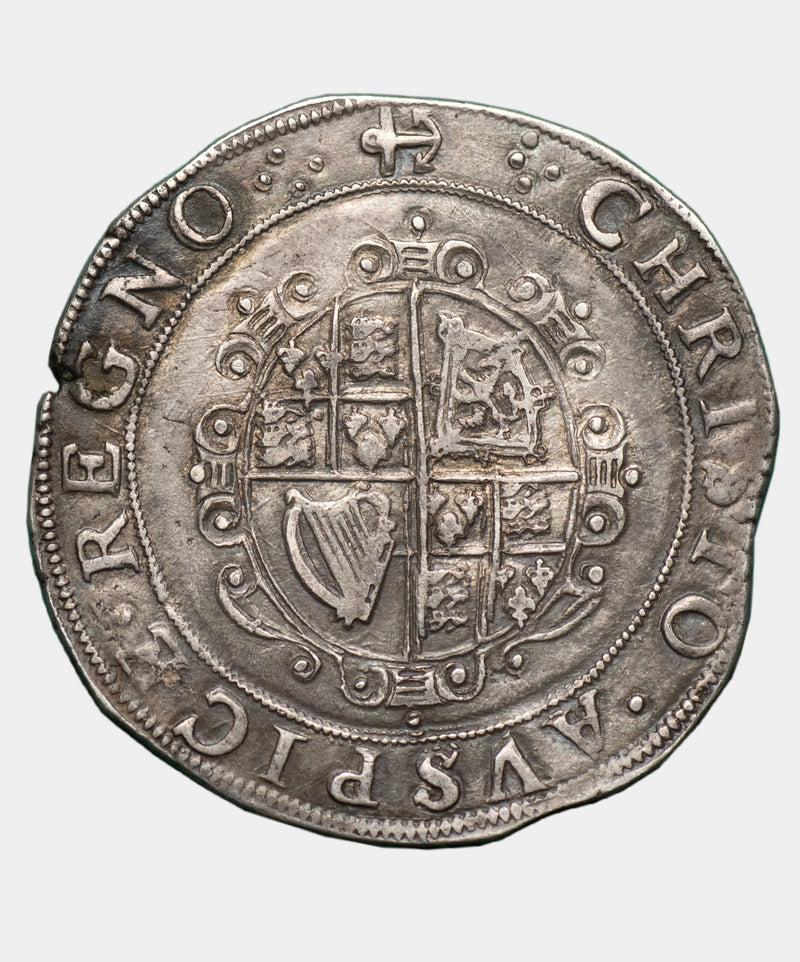 1638-9 Charles I type 3a2 mm anchor halfcrown.