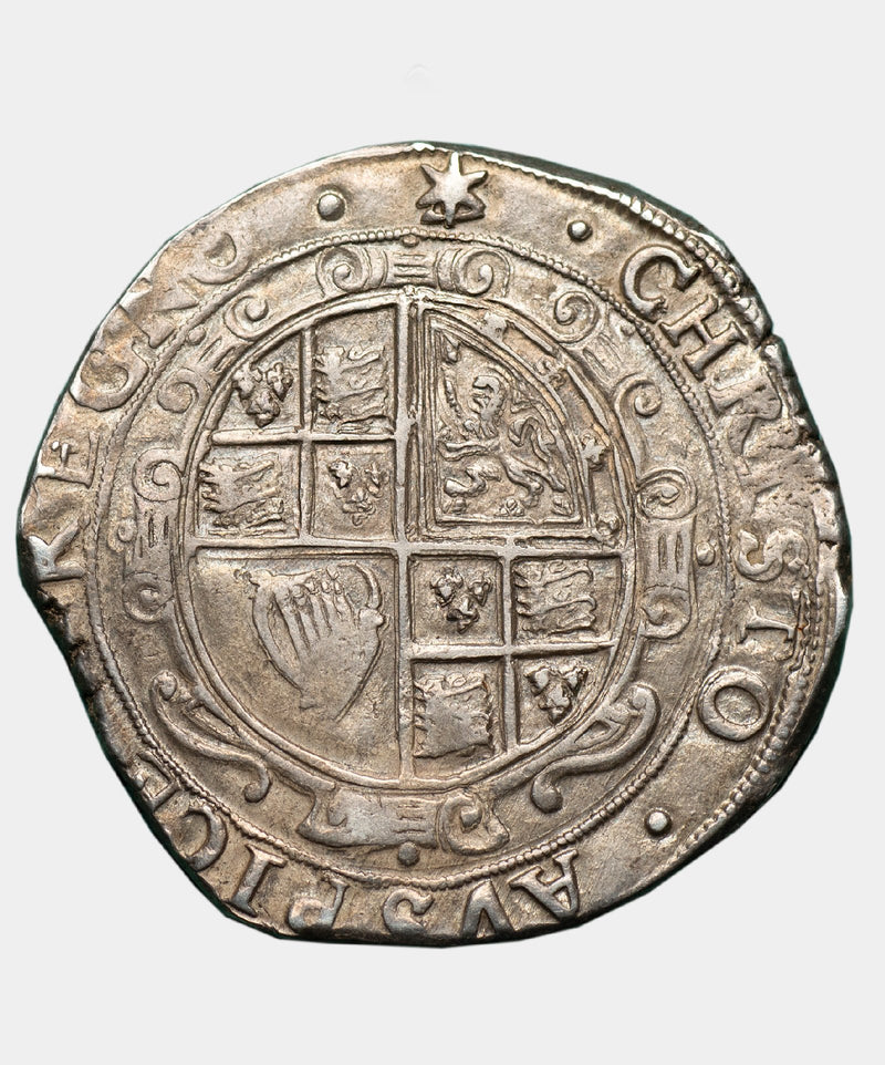 1639-40 Charles I, type 4, mm. Star over triangle Halfcrown - Mhcoins