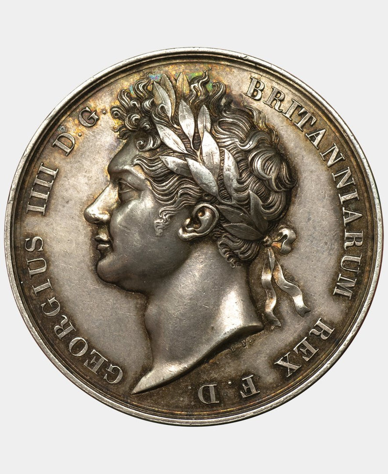 1821 George IV coronation Medal in Silver - Mhcoins
