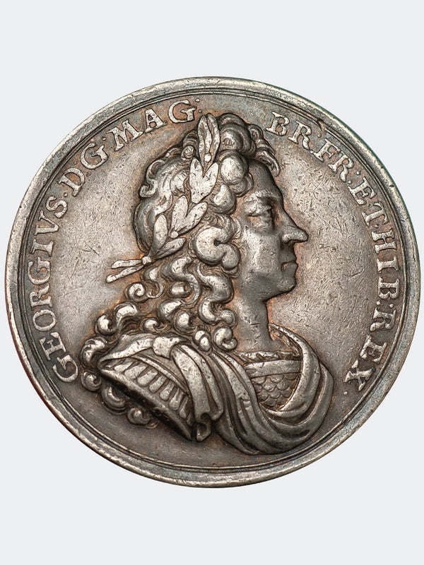1714 George I coronation medal in Silver