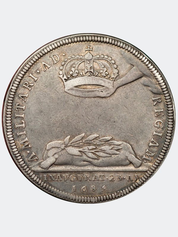 1685 James II Coronation medal in silver