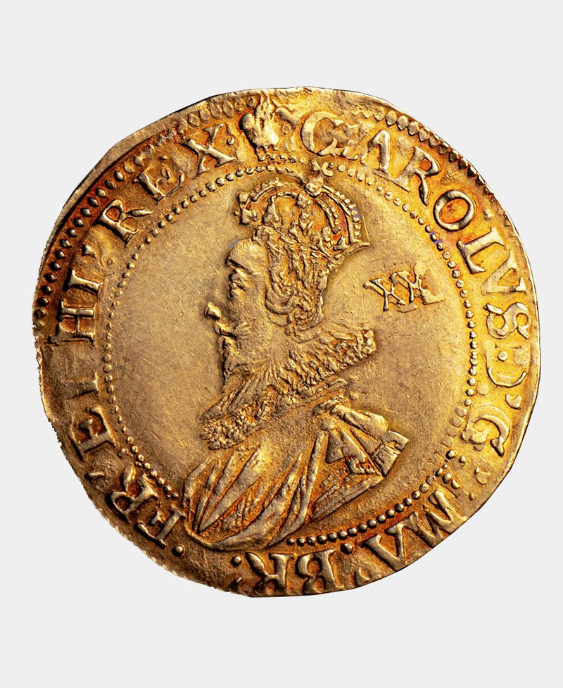 1630 - 1 Charles I mm Plume over Heart Unite - Mhcoins