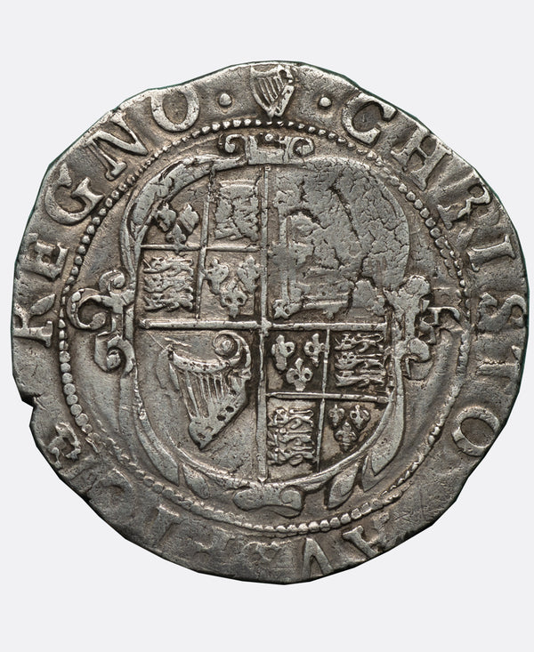 1635 - 6 Charles I Tower Mint mm Harp Shilling