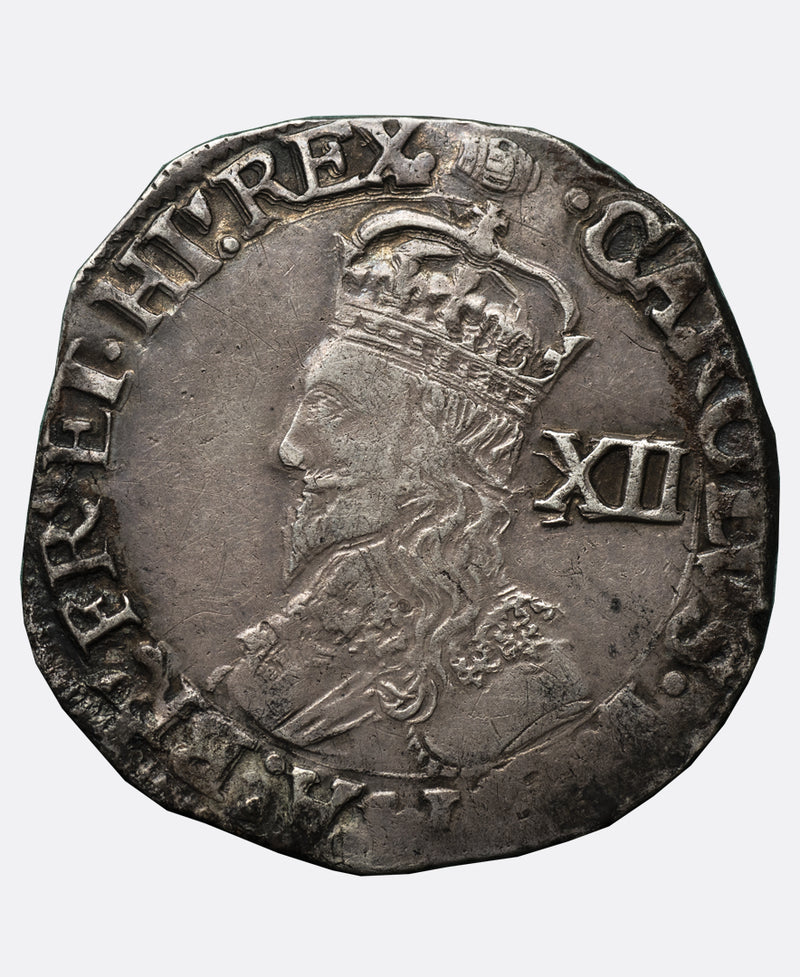 1636 - 8 Charles I Tower Mint mm Tun Shilling