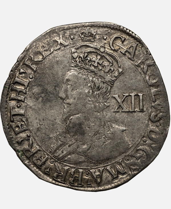 1635-6 Charles I Tower Mint mm Crown over Bell Shilling