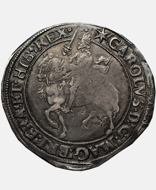 1640 - 41 Charles I tower Mint mm Star Halfcrown