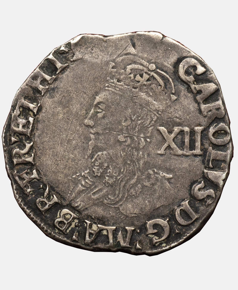 1636 - 38 Charles I tower Mint type 3b mm Tun Shilling.