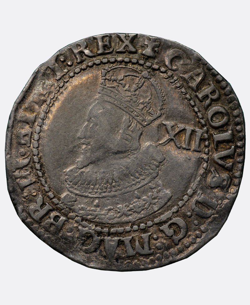 1626 Charles I tower mm Cross Calvary over lis Shilling