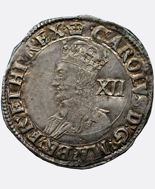1635-6 Charles I Tower Mint mm Crown Shilling