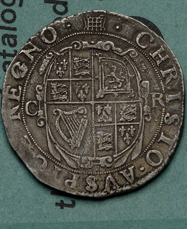 1633 - 34 Charles I Tower Mint mm.Portcullis Halfcrown