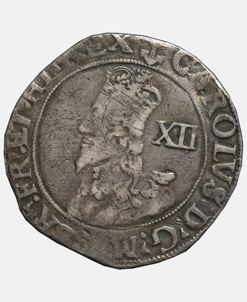 Charles I Tower Mint mm Anchor Shilling