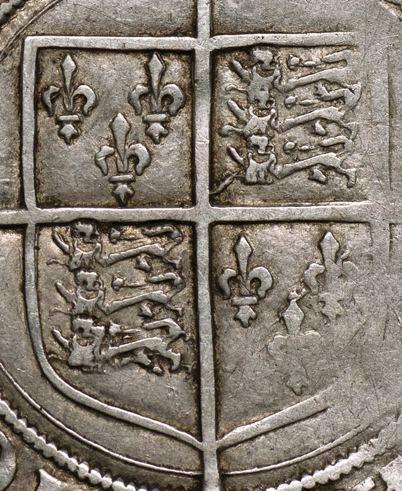 1558 - 1603  Elizabeth I Second Issue Shilling
