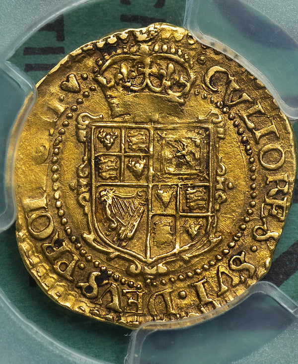 1629 - 30 Charles I Tower Mint Gold Crown - PCGS GRADED AU55 - FINEST KNOWN !