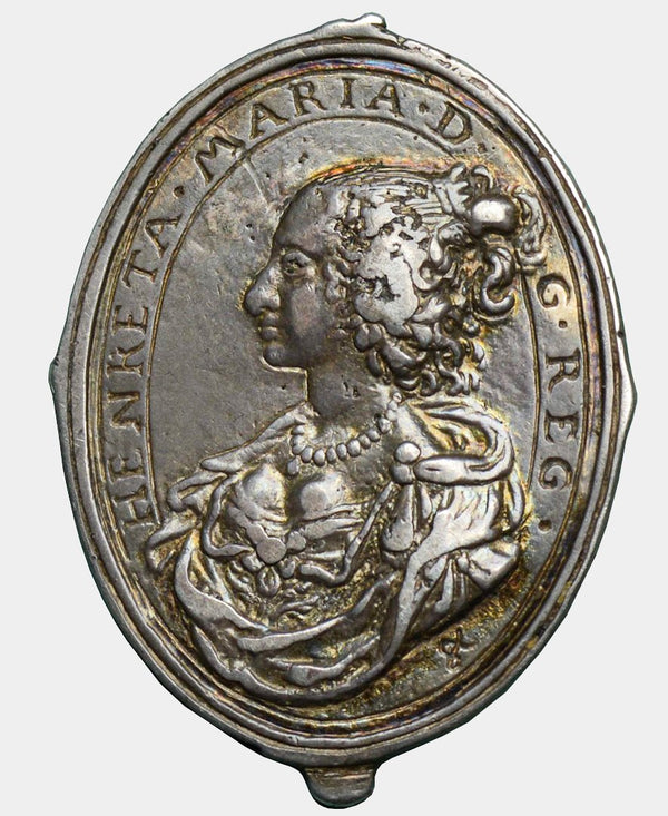 1642 - 49 Charles I Silver Royalist Badge by Thomas Rawlins.