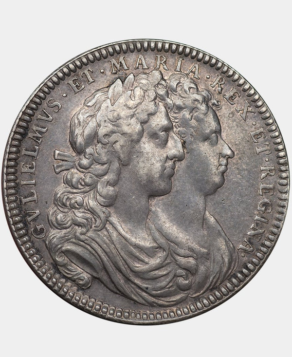 1689 William & Mary Coronation Medal in Silver