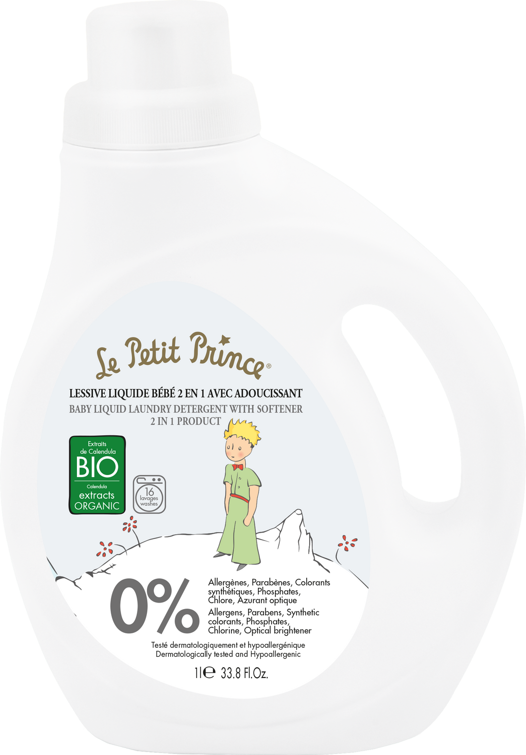 Le Petit Prince Baby Liquid Laundry Detergent With Softner 2 In 1 Product 1000 ml