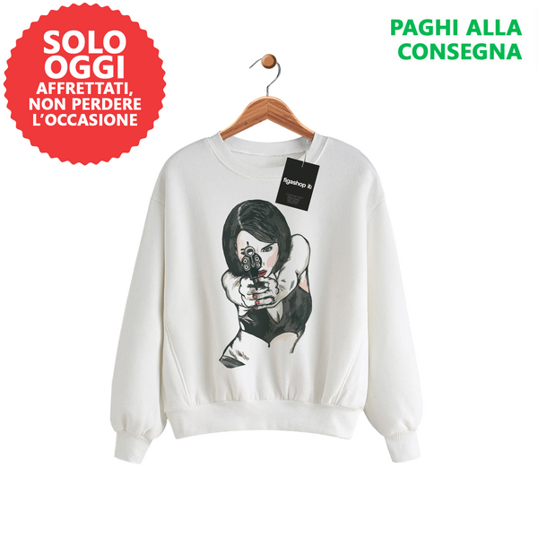 Solo Oggi - Felpa LARA Exclusive Art Collection - Bianca - promo