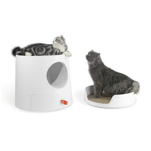 Castle King Cat Litter Box 3-in-1 Cover with Scratcher post or Bed