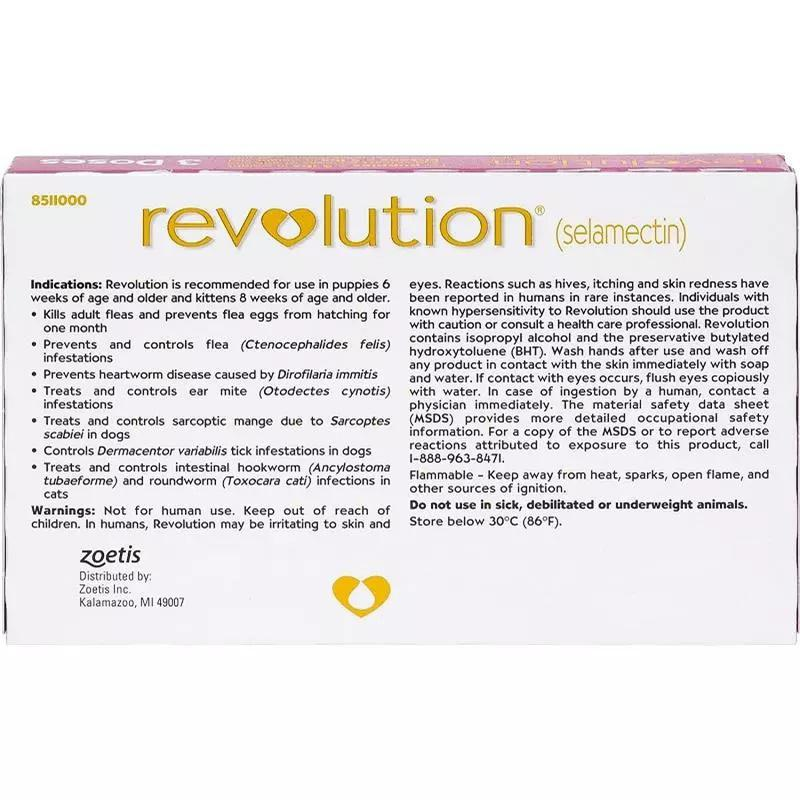 Revolution Topical Treatment Of Fleas Tick Ear Mites And Heartworms For Dogs & Cats