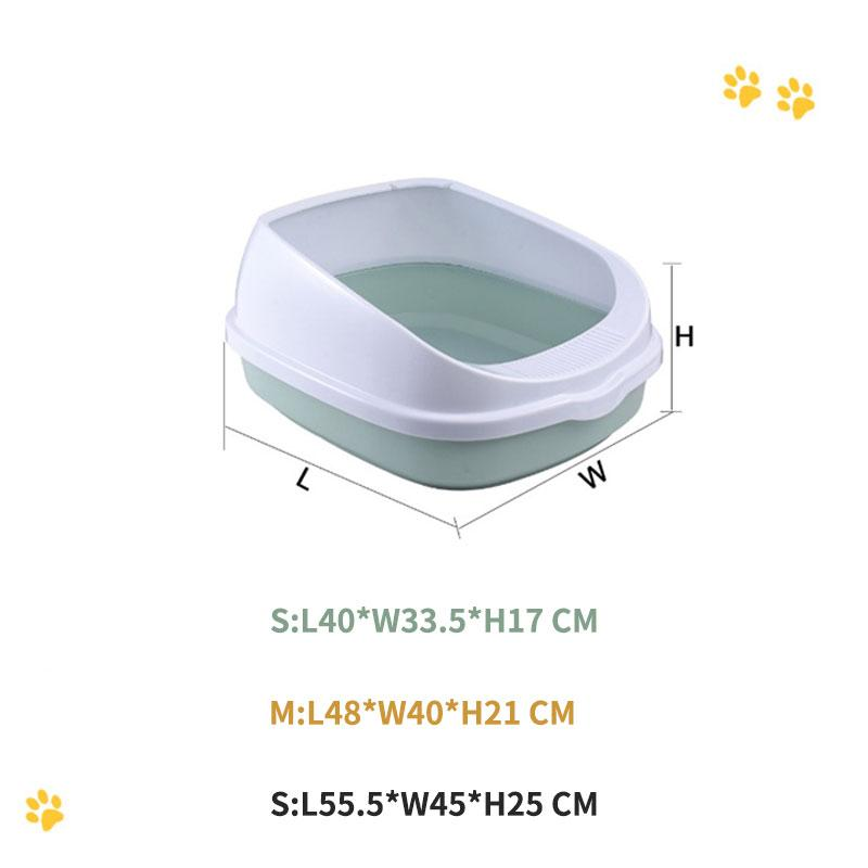Mini Cat Litter Box Pet Toilet Bedpan Plastic Sand Box with Shovel
