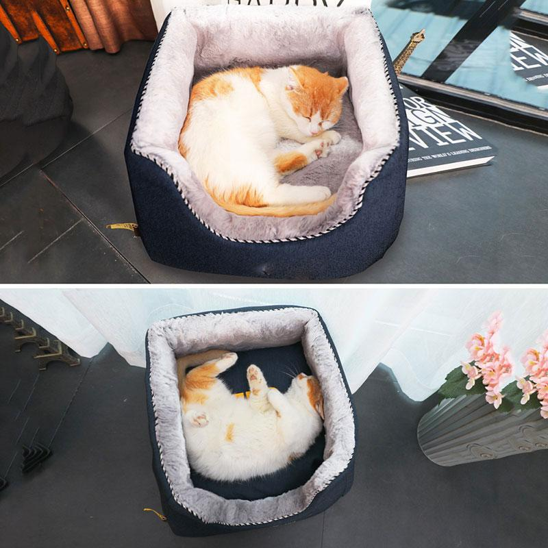 High Quality Pet Cat Dog House Soft Winter Pets Bed Warm Soft Puppy Home