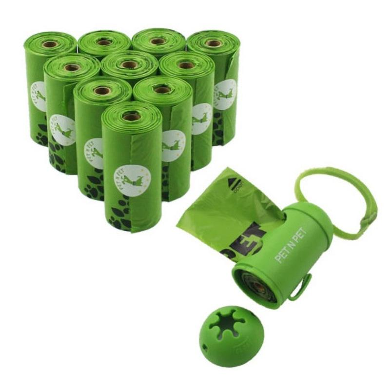 Earth-Friendly Bags Dispenser & Garbage Bag 10 Rolls