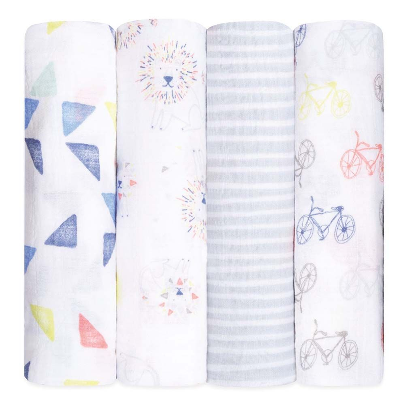 Aden And Anais Classic Swaddles Leader Of The Pack 4Pcs/Pack