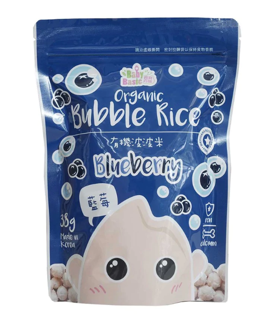 Baby Basic Bubble Rice Combo - Blueberry + Apple & Carrot