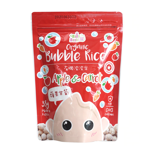 Baby Basic Organic Bubble Rice – Apple & Carrot (38g)
