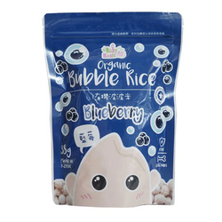 Baby Basic Organic Bubble Rice – Blueberry (38g)