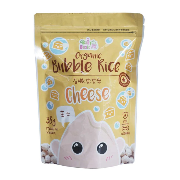 Baby Basic Organic Bubble Rice – Cheese (38g)