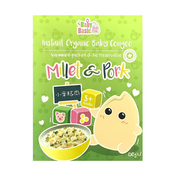 Baby Basic Organic Instant Congee – Millet & Pork (150g x 2)