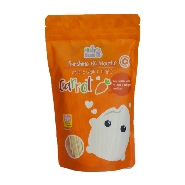 Baby Basic Sunshine QQ Noodle – Carrot (220g)