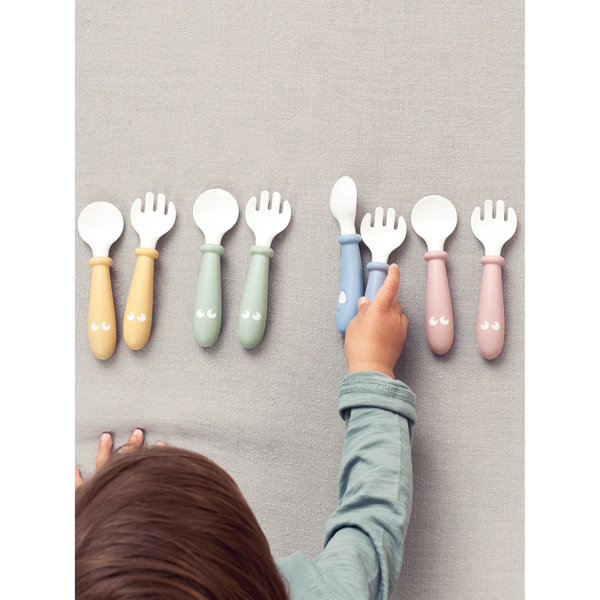 Babybjorn Baby Spoon And Fork - 4 Pcs - Powder Pink