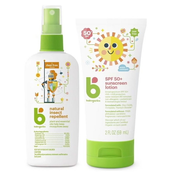 Babyganics Natutal Insect Repellent + Sunscreen Mini Combo 2Oz