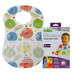 Bibsters - Disposable Bibs Large - Sesame Street (6 Months)