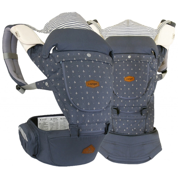 I-Angel 4 Seasons Miracle Hip Seat Carrier - Stone Blue