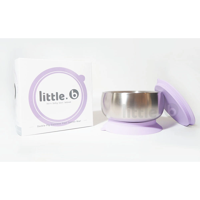 Little B Double-Layer 316 Stainless Steel Suction Bowl 330ml – Purple