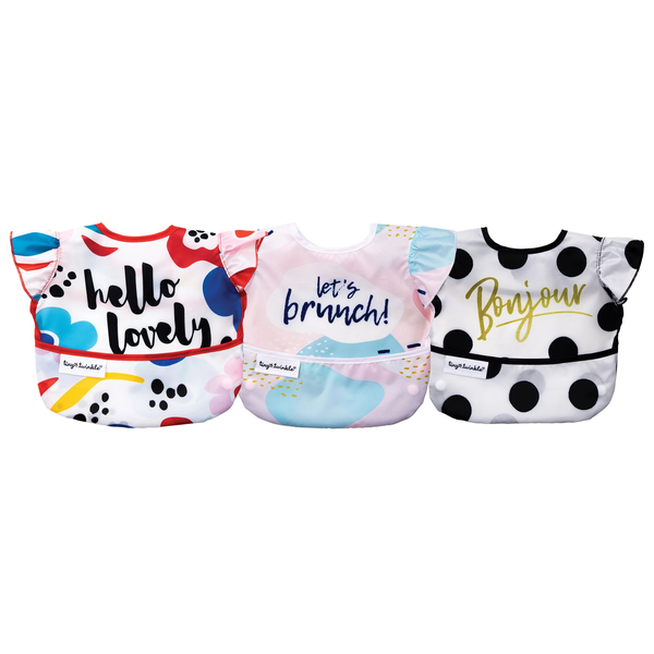 Tiny Twinkle Mess-Proof Easy Bib 3Pk - Girl Set